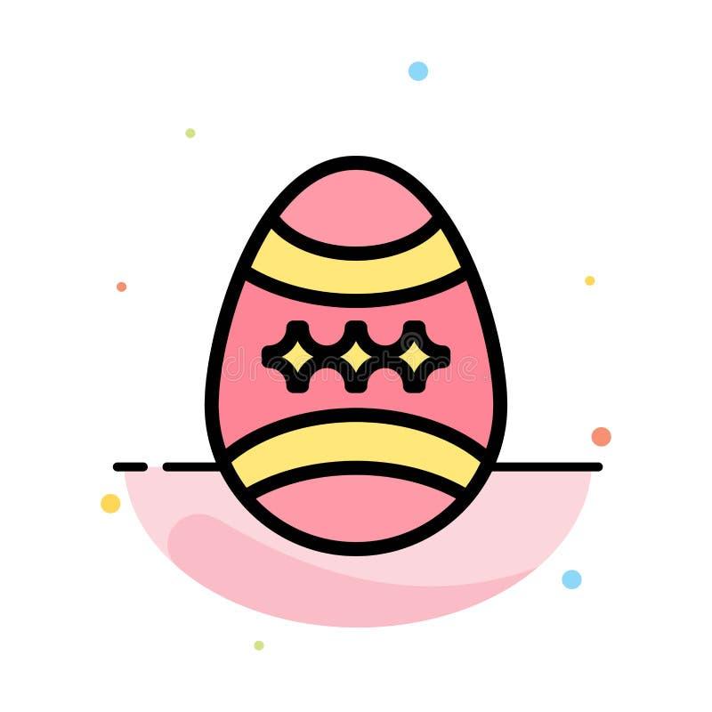 Fågel garnering, påsk, för färgsymbol för ägg abstrakt plan mall royaltyfri illustrationer