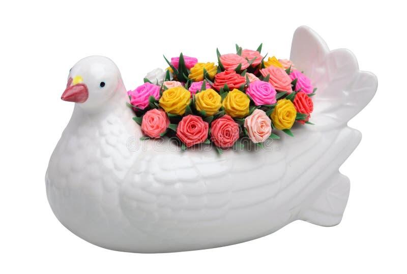 Fågel och blomma royaltyfria foton