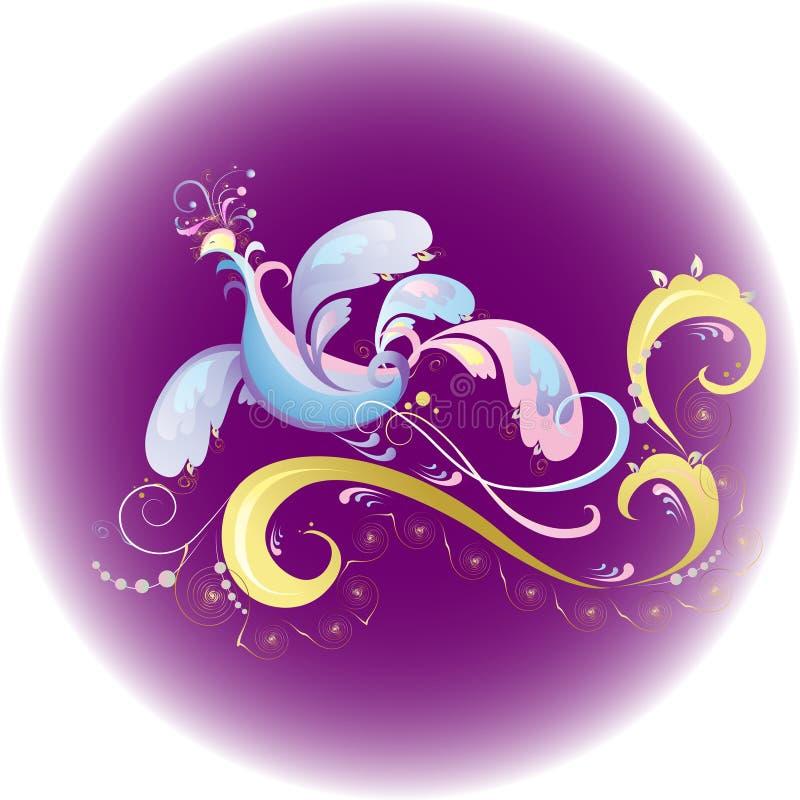 fågel phoenix royaltyfri illustrationer