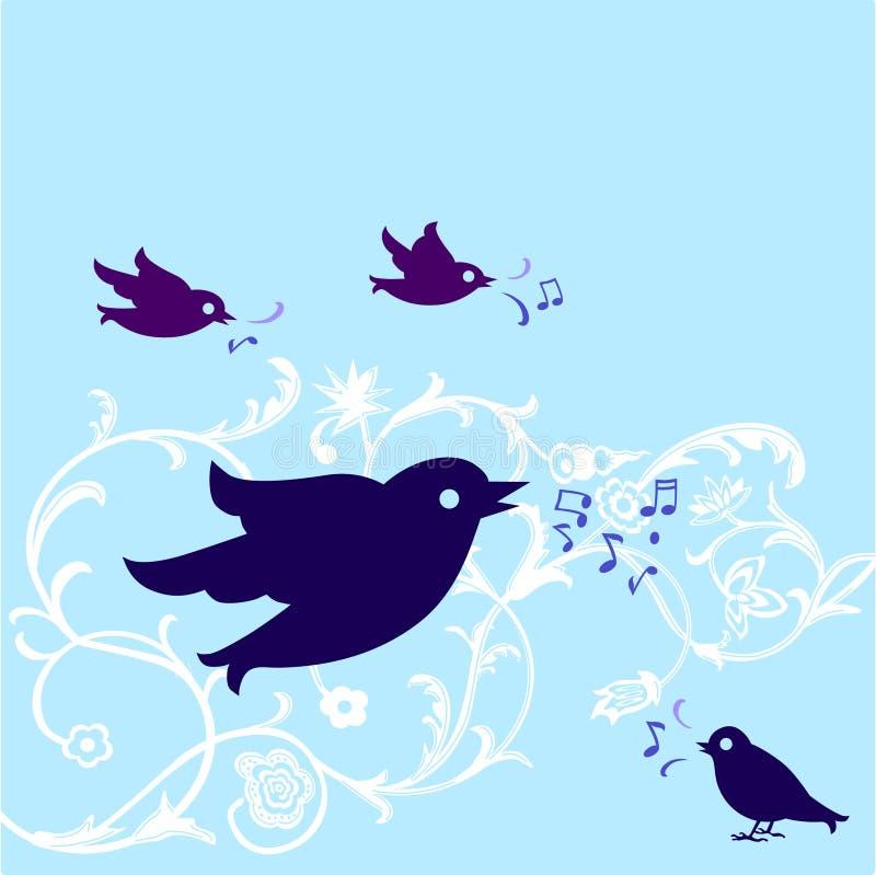 fågel som tweet royaltyfri illustrationer