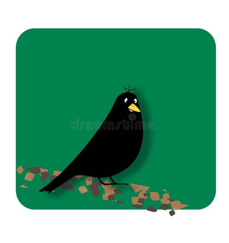 fågelblack stock illustrationer