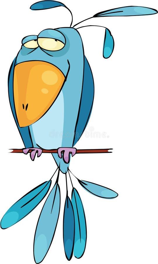 fågelblue royaltyfri illustrationer