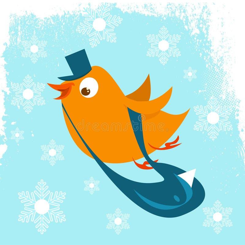 fågelbrevbärare stock illustrationer