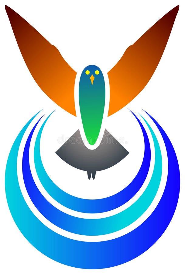 fågelemblem royaltyfri illustrationer