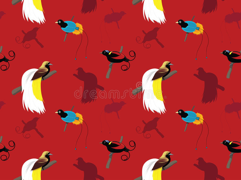 Fågelfågel-av-paradis tapet vektor illustrationer