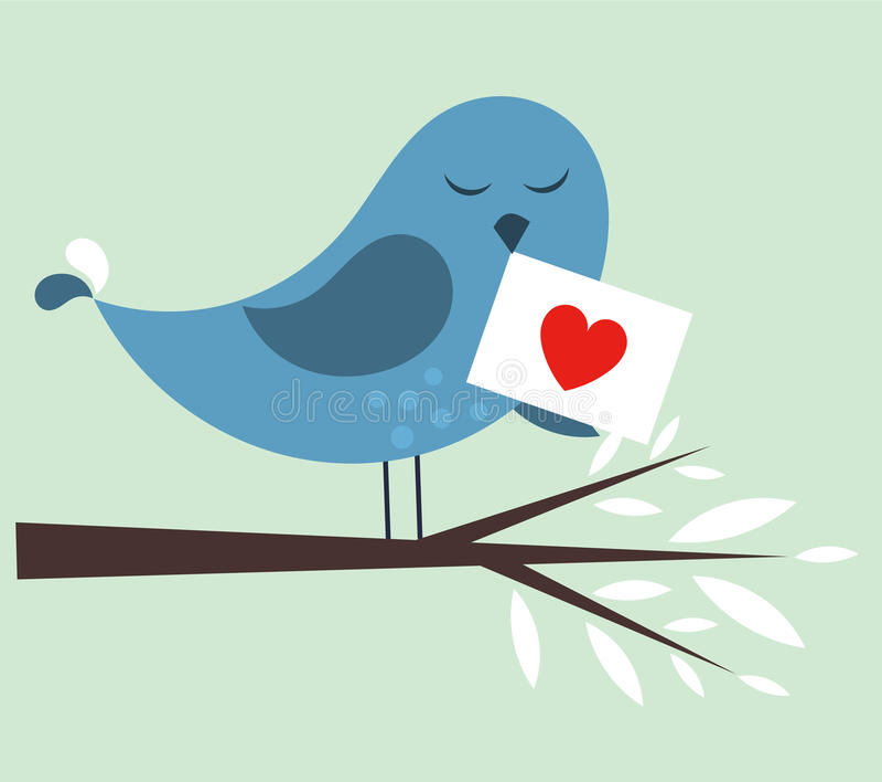 Fågelförälskelse vektor illustrationer