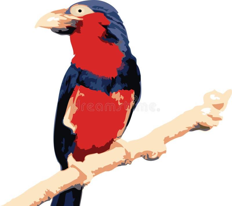 fågelillustrationvektor royaltyfri illustrationer