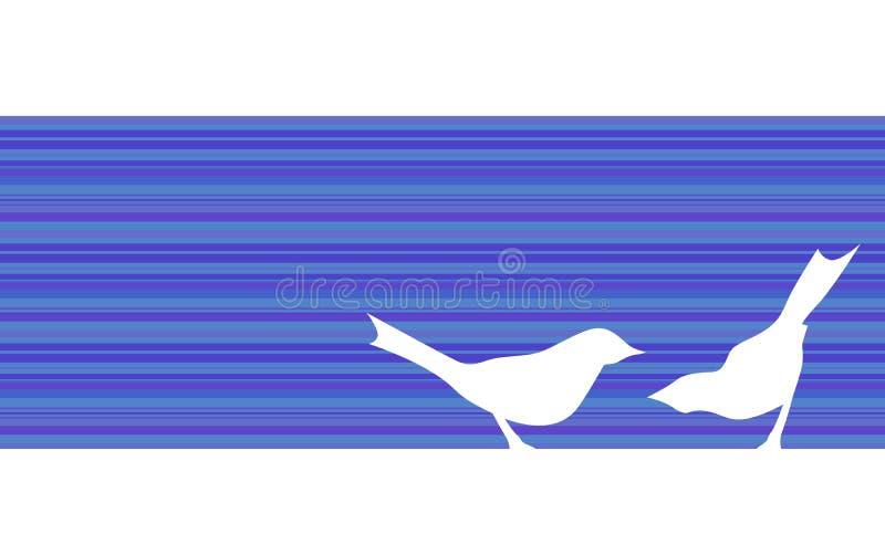 Fågelkonturer - baner stock illustrationer