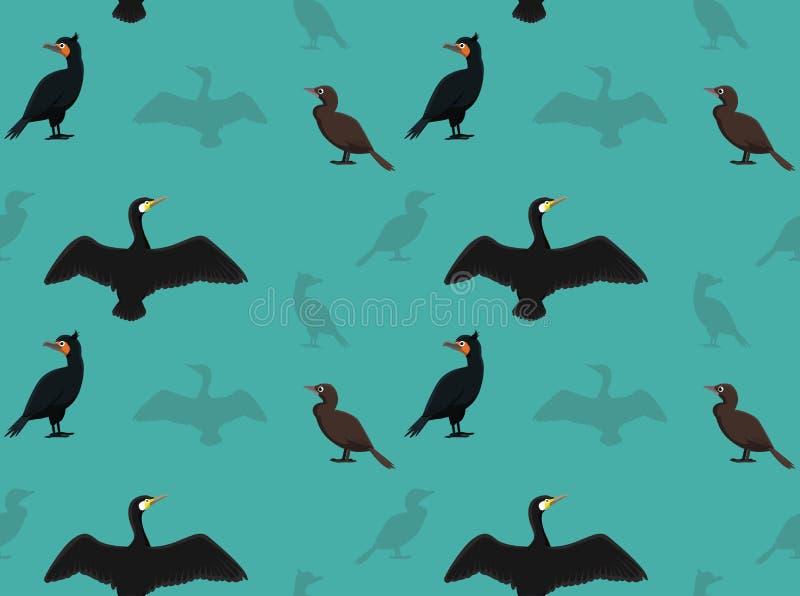 Fågelkormorantapet royaltyfri illustrationer
