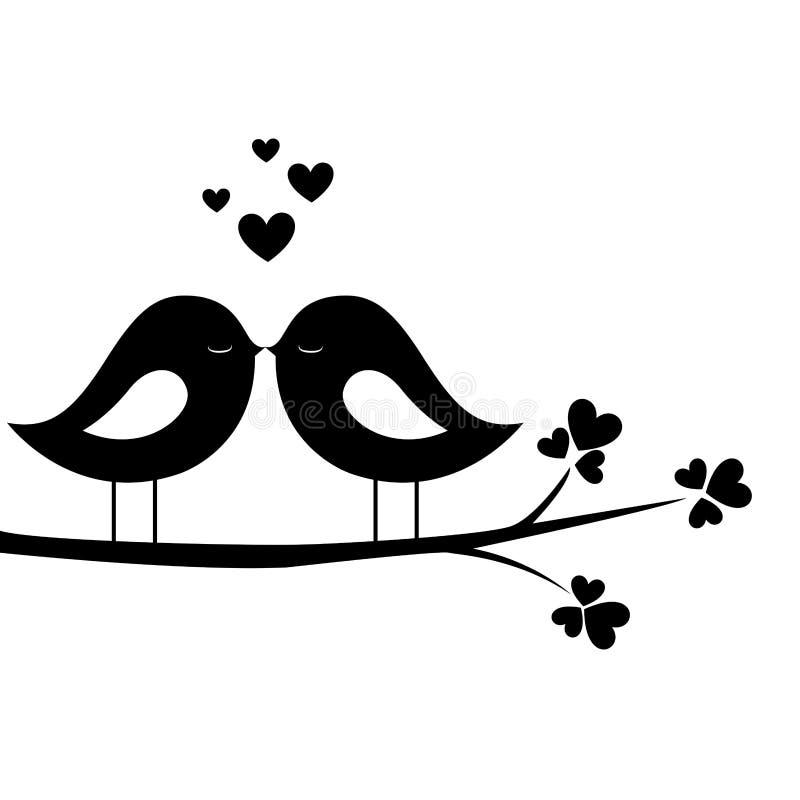 Fågelkyss royaltyfri illustrationer
