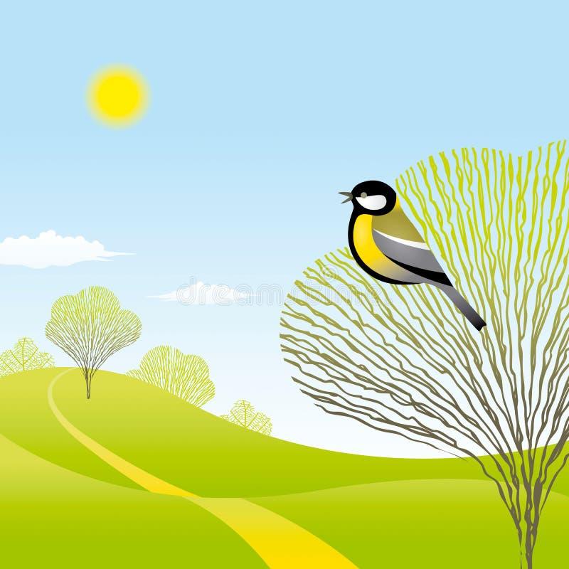 fågelliggandefjäder vektor illustrationer