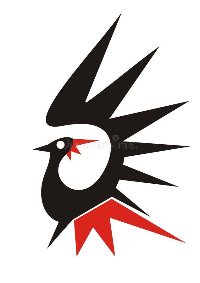 fågellogo vektor illustrationer