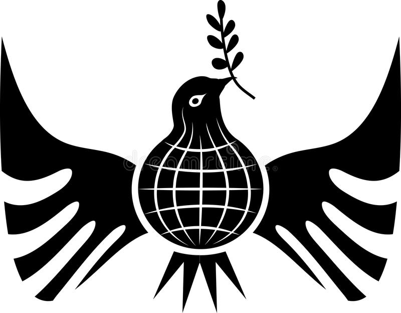 fågellogofred royaltyfri illustrationer