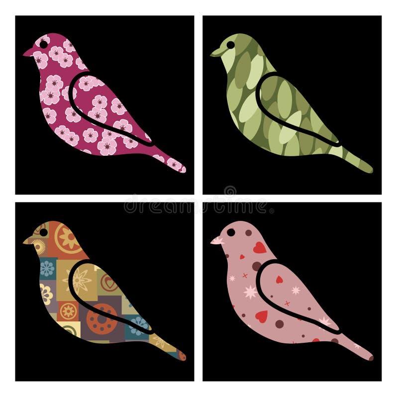fågelmodell royaltyfri illustrationer