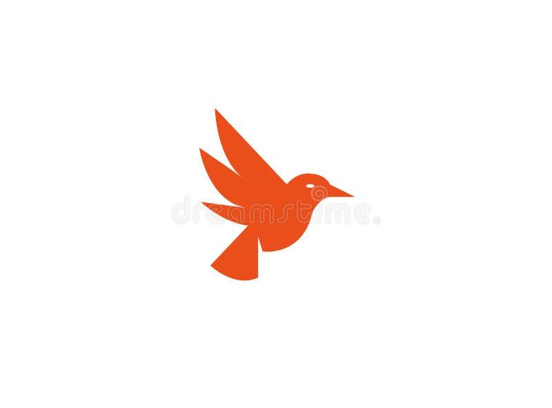 Fågeln dök öppna vingar och flyger för logo vektor illustrationer