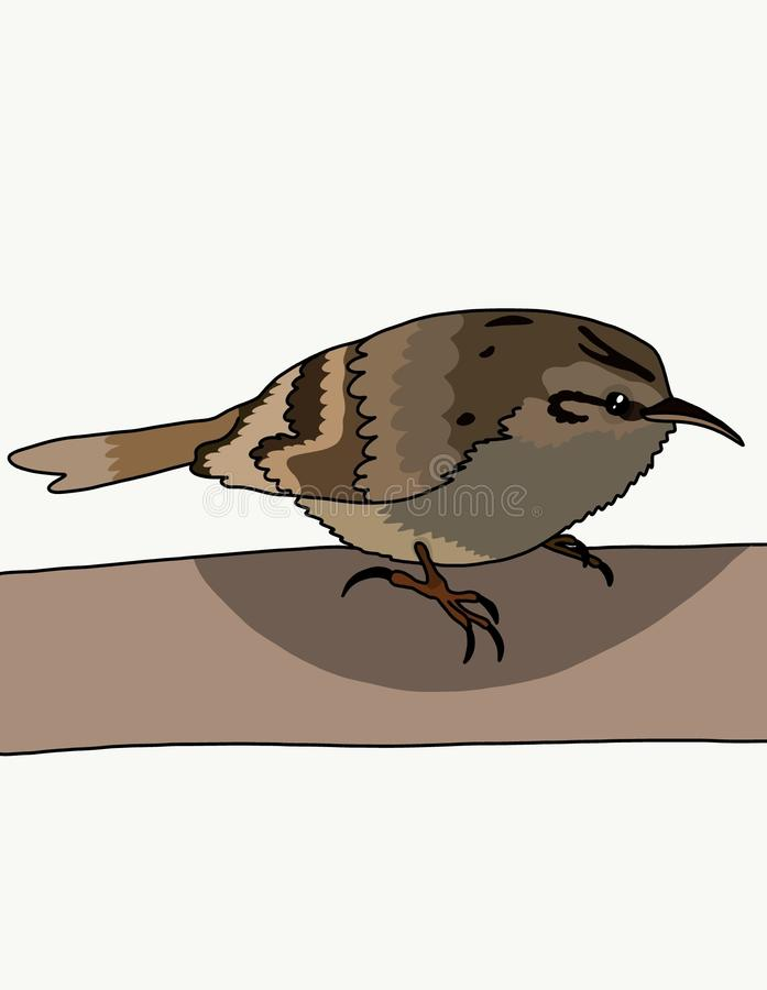 Fågeln gnisslar royaltyfri illustrationer
