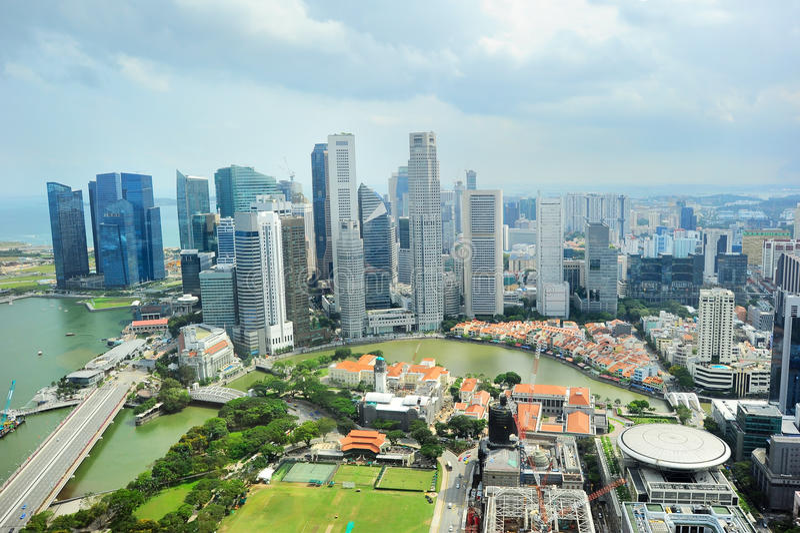 I stadens centrum Singapore arkivbilder