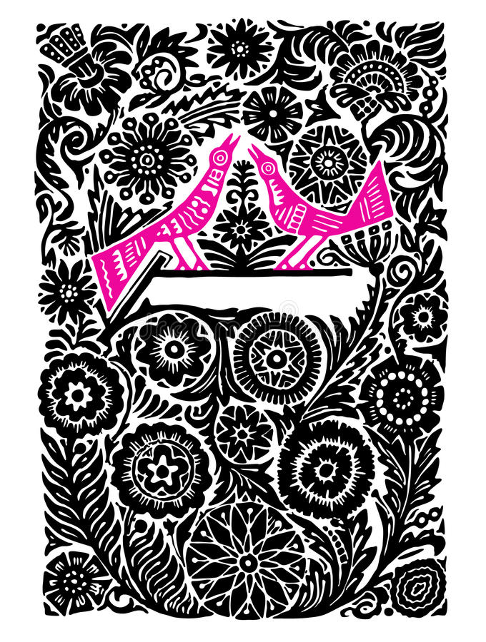 fågelpink royaltyfri illustrationer