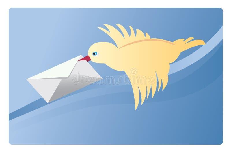 fågelpost vektor illustrationer