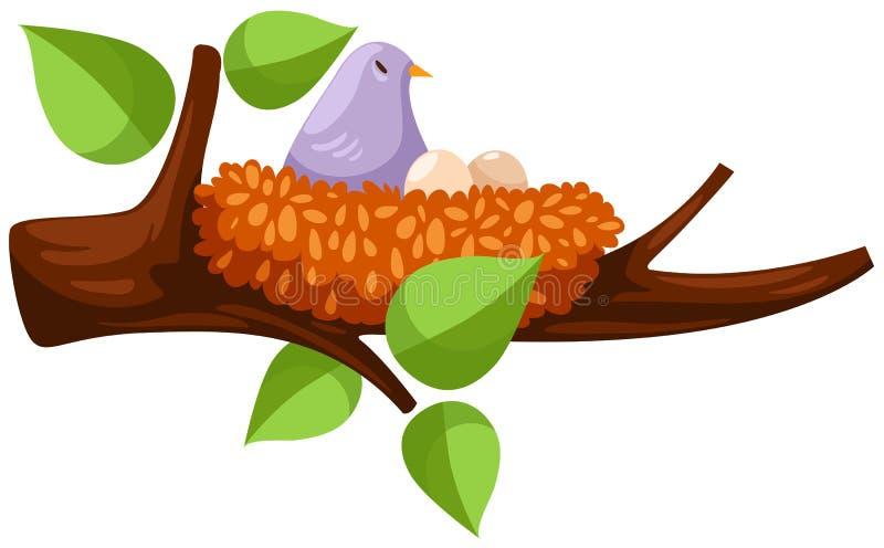 fågelrede royaltyfri illustrationer