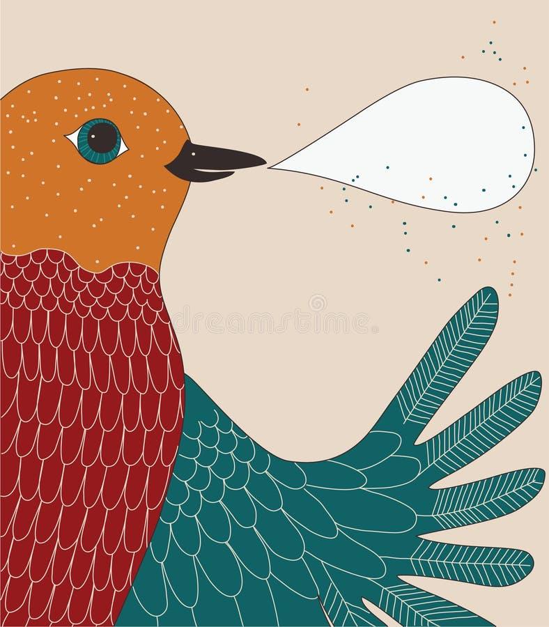 fågelsamtal vektor illustrationer