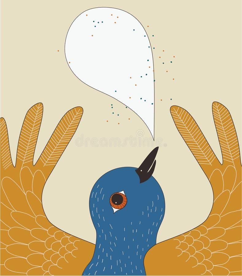 fågelsamtal stock illustrationer