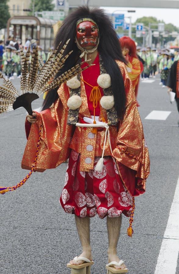Fågelspöke på den Nagoya festivalen, Japan royaltyfri bild
