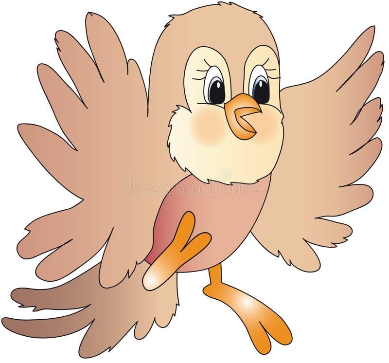 fågeltecknad filmillustration royaltyfri illustrationer
