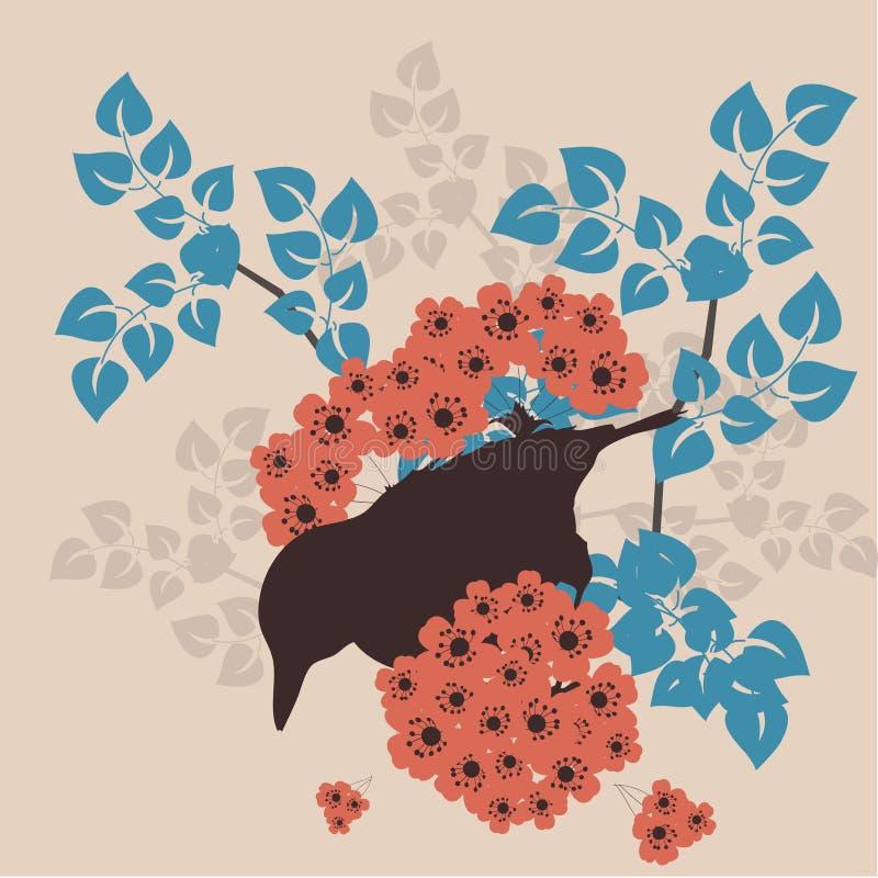 fågelträdgård stock illustrationer