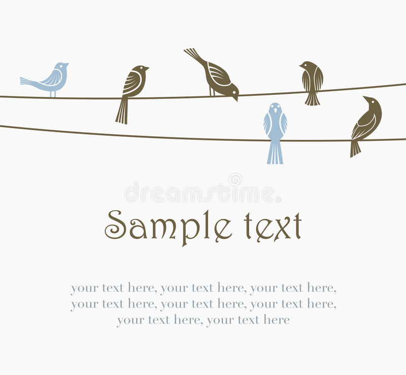 fågeltrådar stock illustrationer