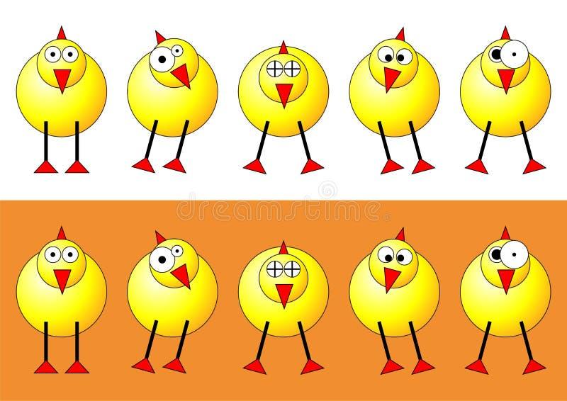 fågelungar easter vektor illustrationer