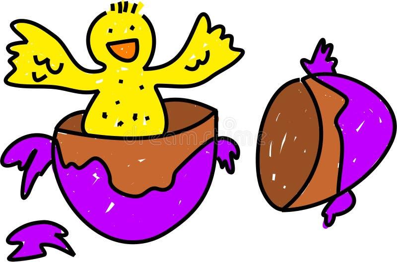 fågelunge easter royaltyfri illustrationer