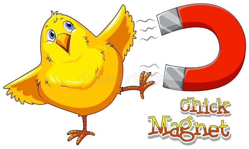 Fågelungemagnet royaltyfri illustrationer
