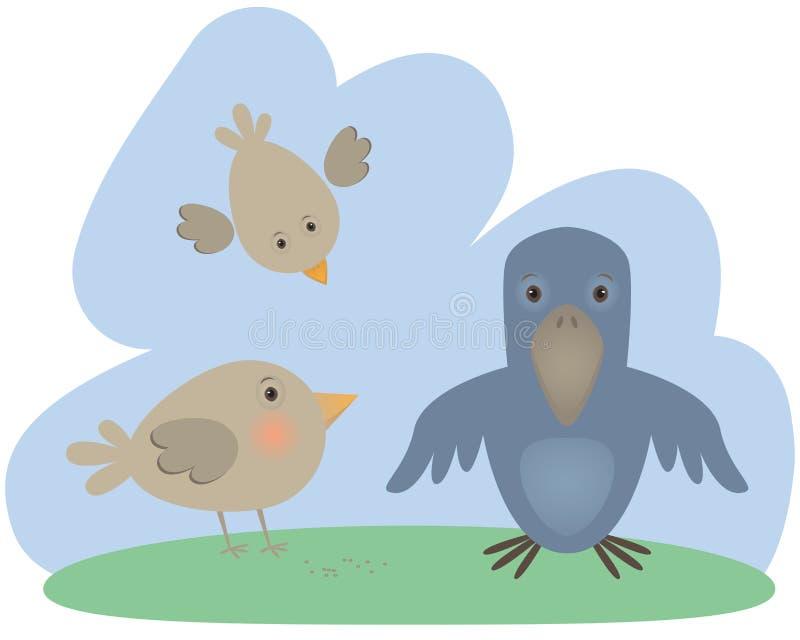 fåglar stock illustrationer