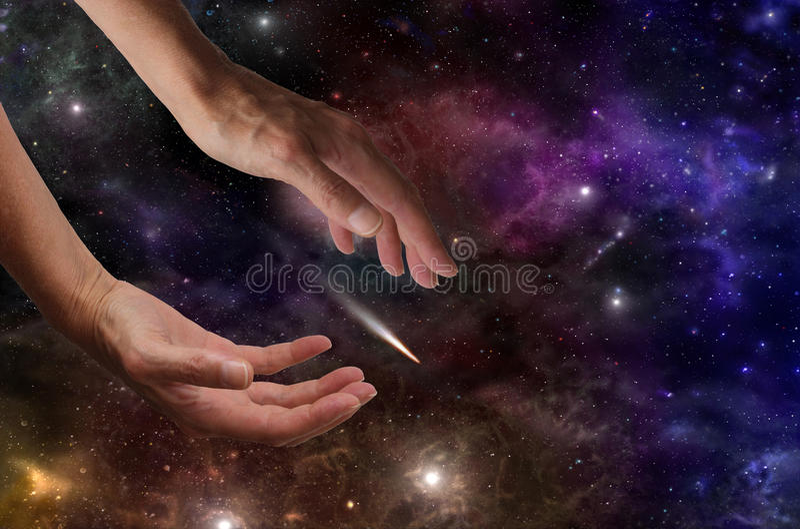 Fånga en komet arkivbilder