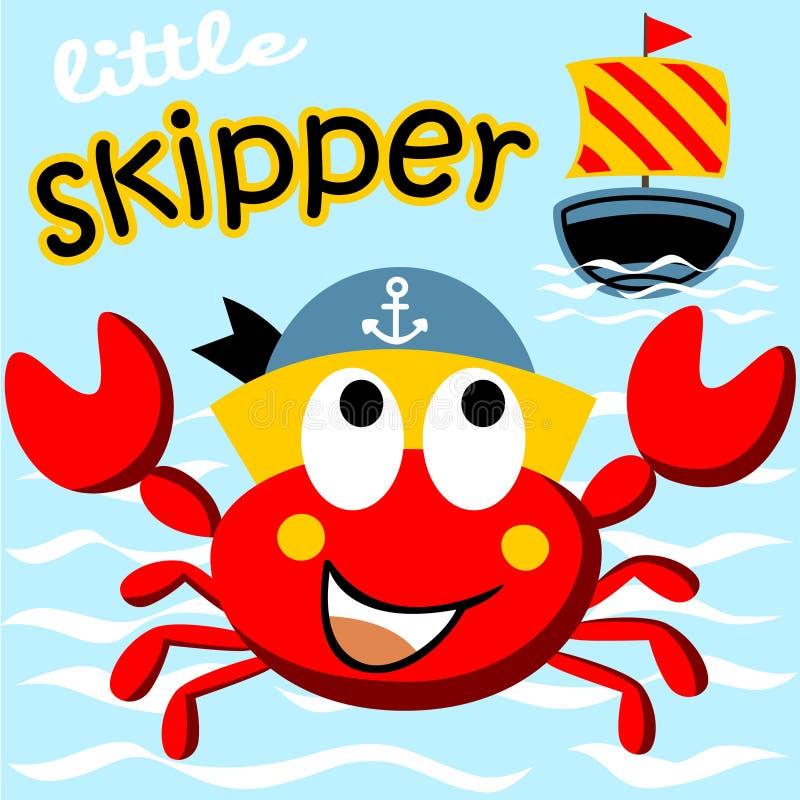 fånga krabbor red vektor illustrationer