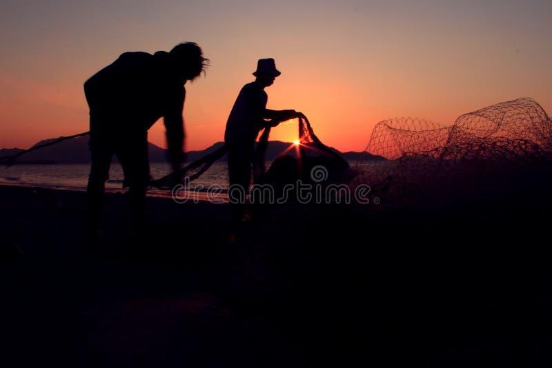 Fånga solnedgången royaltyfria bilder