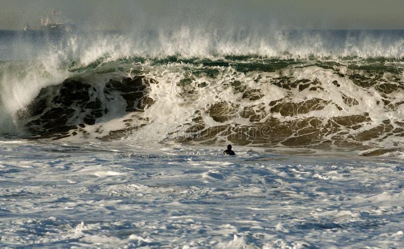 fångad inre surfare arkivfoto