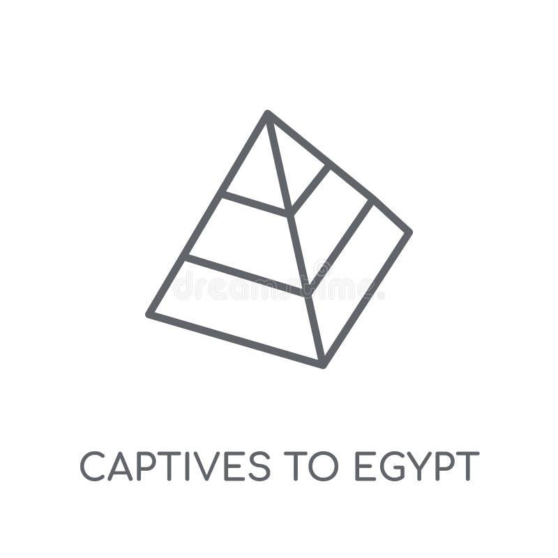 Fången till Egypten den linjära symbolen Moderna översiktsfången till Egypten vektor illustrationer