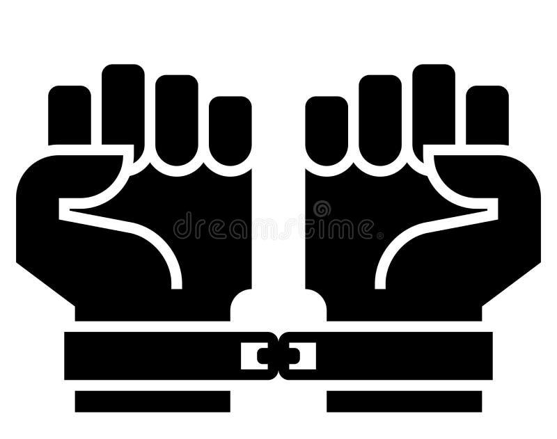 Fångesymbol royaltyfri illustrationer
