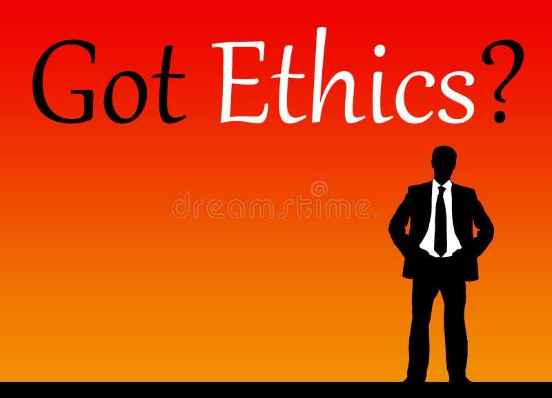 Fångna etik royaltyfri illustrationer