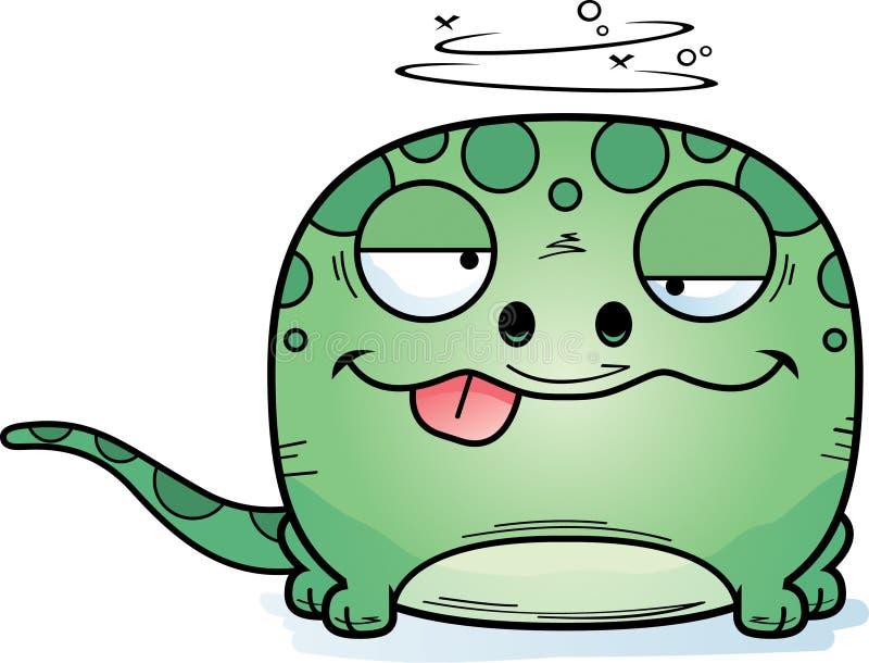 Fånig gecko för tecknad film stock illustrationer