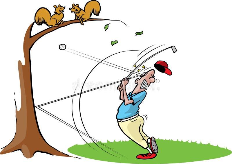 fånig grabb för golf 2 royaltyfri illustrationer
