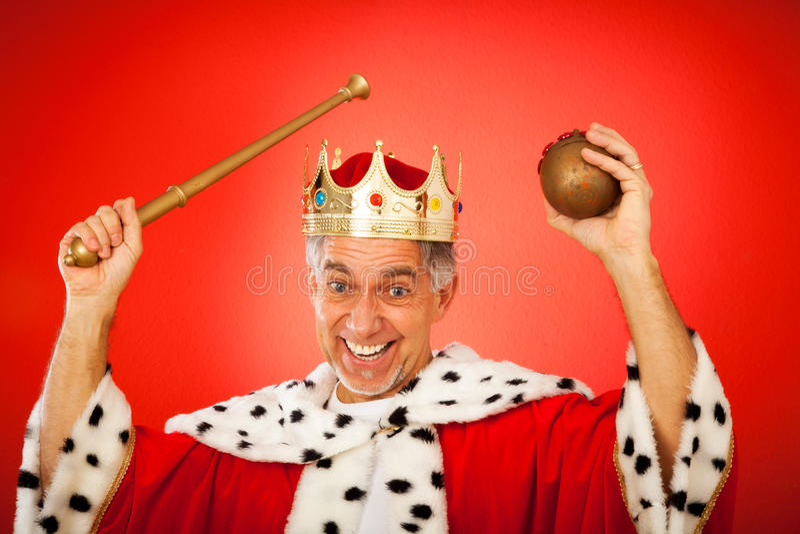 Fånig konung royaltyfri fotografi