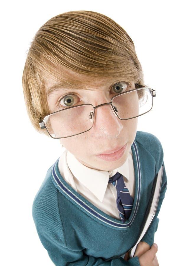 Fånig student Portrait arkivbild