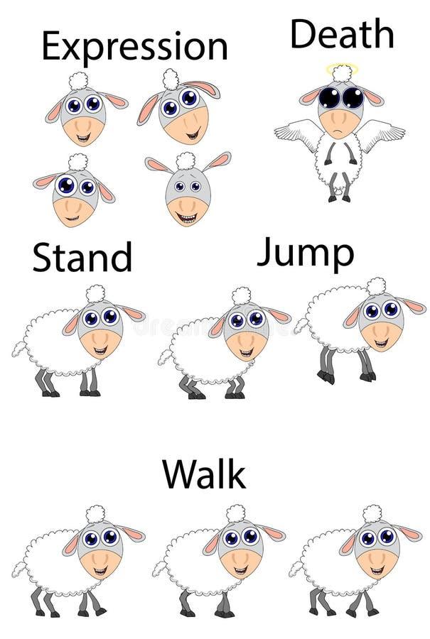 Får för nummerlek vektor illustrationer