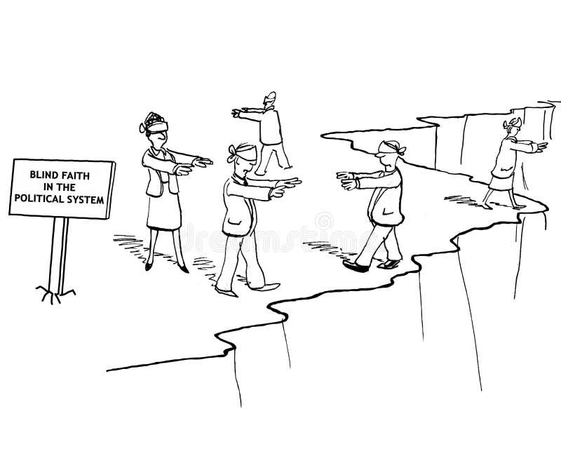 Fé cega ilustração do vetor