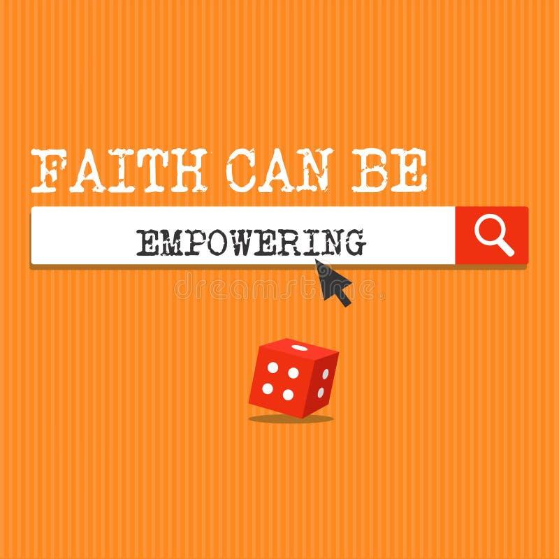 A fé da escrita do texto da escrita pode autorizar Confiança do significado do conceito e crença em nos de que nós podemos a faze ilustração stock
