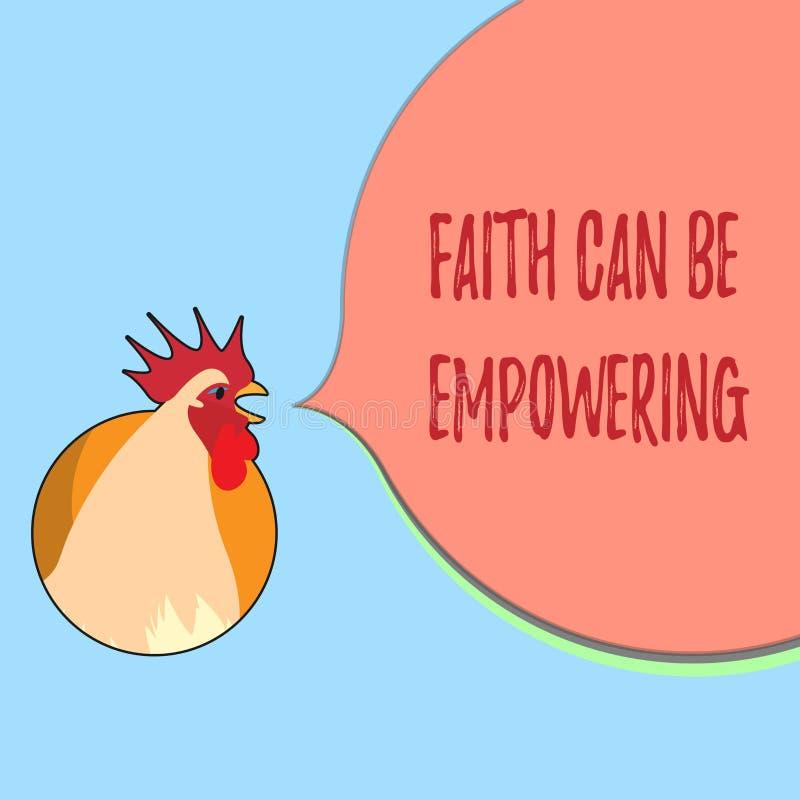 A fé do texto da escrita da palavra pode autorizar Conceito do negócio para a confiança e crença em nos de que nós podemos a faze ilustração royalty free