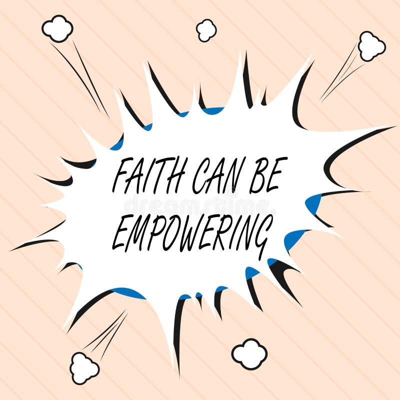 A fé do texto da escrita da palavra pode autorizar Conceito do negócio para a confiança e crença em nos de que nós podemos a faze ilustração do vetor